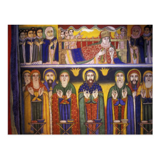 Africa, Ethiopia. Artwork depicting apostles and Postcard