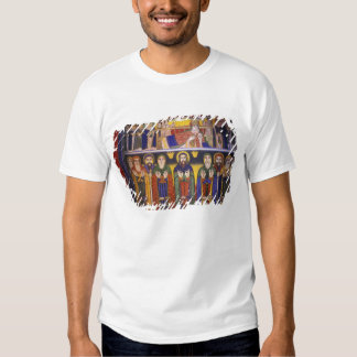Africa, Ethiopia. Artwork depicting apostles and Tshirts