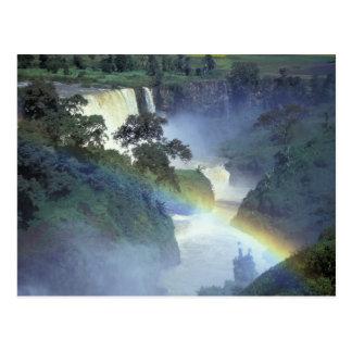 Africa, Ethiopia, Blue Nile River, Cataract. Postcard