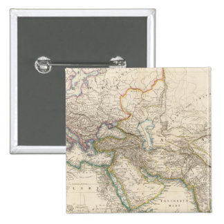 Africa, Europe and western Asia Atlas Map 2 Inch Square Button