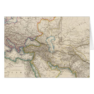 Africa, Europe and western Asia Atlas Map Greeting Card