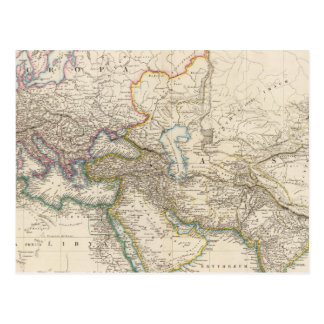 Africa, Europe and western Asia Atlas Map Postcard