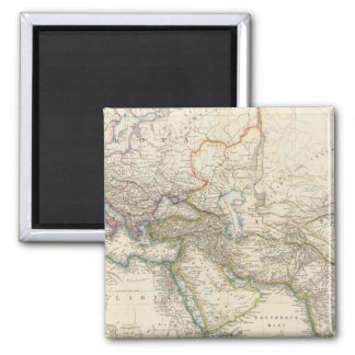 Africa, Europe and western Asia Atlas Map Square Magnet
