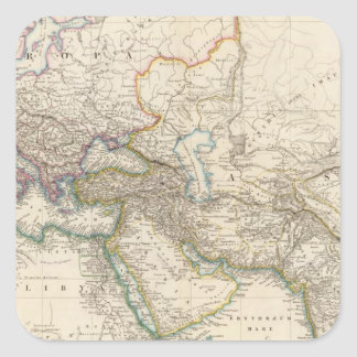 Africa, Europe and western Asia Atlas Map Stickers