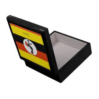 Africa: Flag of Uganda Keepsake Box