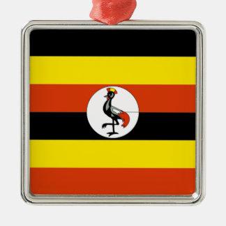 Africa: Flag of Uganda Metal Ornament