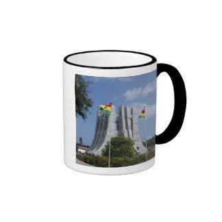 Africa, Ghana, Accra. Nkrumah Mausoleum, final 3 Ringer Coffee Mug