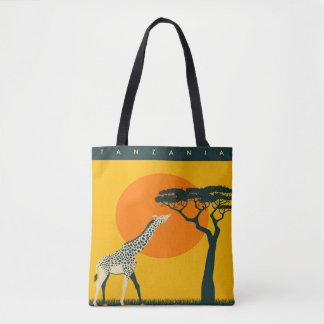 Africa Girafe Tanzania travel vacation tote