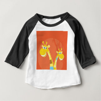 AFRICA GIRAFFE YELLOW ART COLLECTION BABY T-Shirt