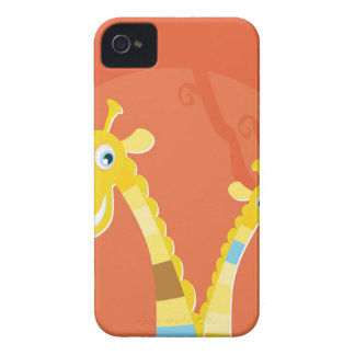 AFRICA GIRAFFE YELLOW ART COLLECTION iPhone 4 Case-Mate CASES