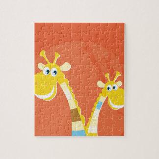 AFRICA GIRAFFE YELLOW ART COLLECTION JIGSAW PUZZLE