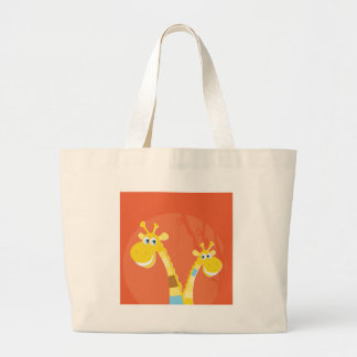 AFRICA GIRAFFE YELLOW ART COLLECTION LARGE TOTE BAG