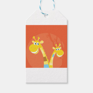 AFRICA GIRAFFE YELLOW ART COLLECTION PACK OF GIFT TAGS