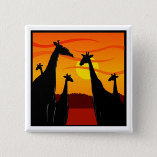 Africa-Giraffes 2 Inch Square Button