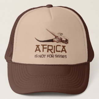 Africa is not for sissies: African Springbok skull Trucker Hat