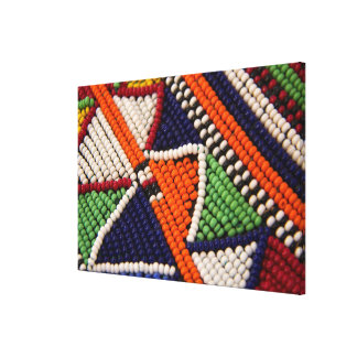 Africa, Kenya. Maasai Tribal Beads Canvas Print