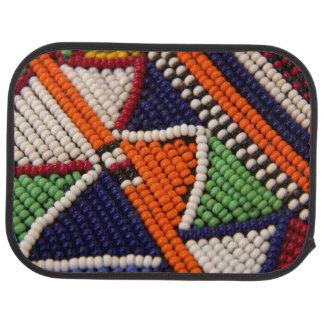 Africa, Kenya. Maasai Tribal Beads Car Mat