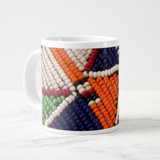 Africa, Kenya. Maasai Tribal Beads Large Coffee Mug