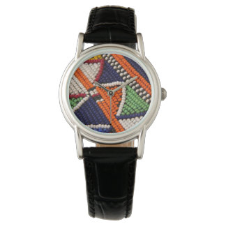 Africa, Kenya. Maasai Tribal Beads Watch