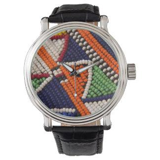 Africa, Kenya. Maasai Tribal Beads Wristwatch