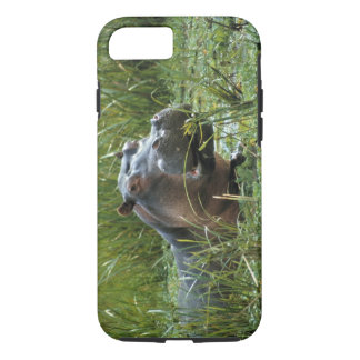 Africa, Kenya, Masai Mara NR. A mother hippo and iPhone 7 Case