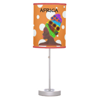 Africa lamp with colors