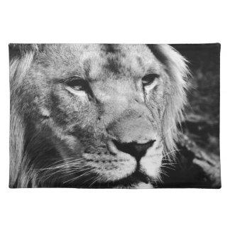 africa lion male closeup macro placemat