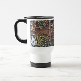 Africa Lion Trees Nature Landscapes Skies Travel Mug