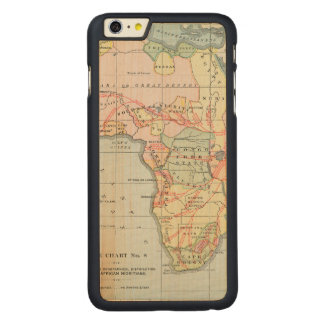 AFRICA: MAP, 1894 CARVED® MAPLE iPhone 6 PLUS CASE