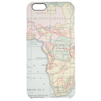 AFRICA: MAP, 1894 CLEAR iPhone 6 PLUS CASE