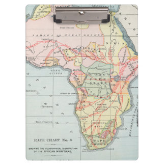 AFRICA: MAP, 1894 CLIPBOARDS