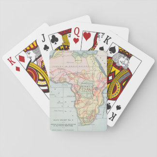AFRICA: MAP, 1894 POKER DECK