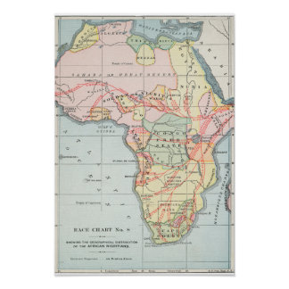 AFRICA: MAP, 1894 POSTER