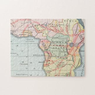 AFRICA: MAP, 1894 PUZZLE