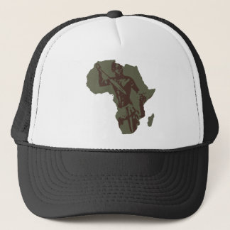 Africa Map African Warrior Artwork Trucker Hat