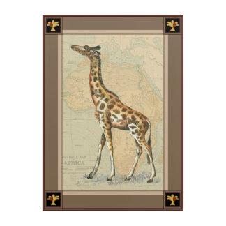 Africa Map and a Giraffe Acrylic Wall Art