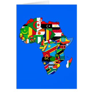Africa map of Africa African Country flag map Card