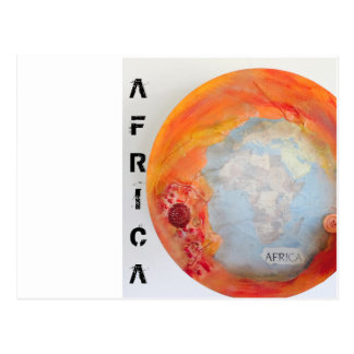 Africa mixed media postcard