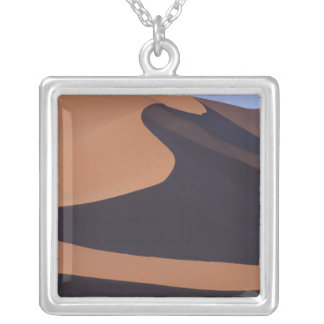 Africa, Namibia, Namib Desert. Sossusvlei. Silver Plated Necklace