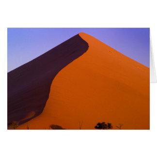 Africa, Namibia, Namib NP, Sossusvlei, Sand Card