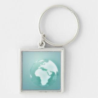 Africa on Globe Keychains