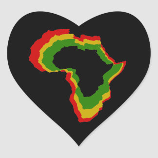 """Africa - Pan African Colors"" [a] Heart Sticker"