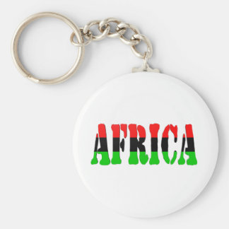 Africa Pan-African Flag Keychain