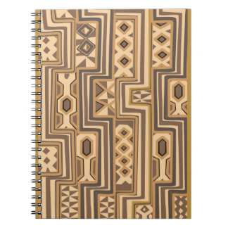 Africa Patterns: Brown abstract African art Notebooks
