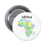 Africa - Political Map Pin