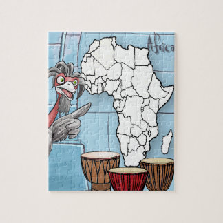 Africa Puzzle with Akachi (110 pieces)