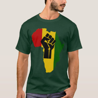 Africa Rasta Black Fist Dark Colored T-Shirt