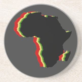 """Africa - Red, Gold, Green and Black"" Coaster"