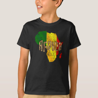 Africa Reggae Map Rastafari Rasta Flag T-Shirt