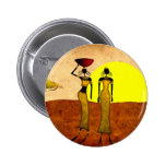 Africa retro vintage style gifts 24 2 inch round button